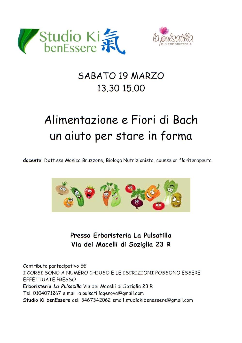 Alimentazione e Fiori di Bach