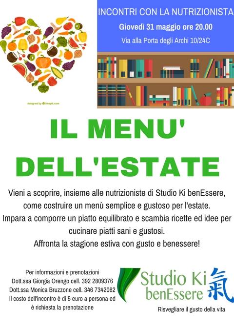 RIcette: IL MENU' DELL'ESTATE nutrizionista Genova